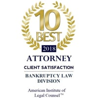 10 Best Attorney 2018 Client Satisfaction Bankruptcy Law Division